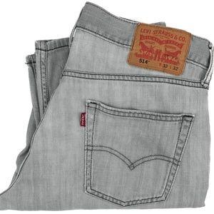Levi's 514 Regular Straight Gray Denim Jeans 32x29